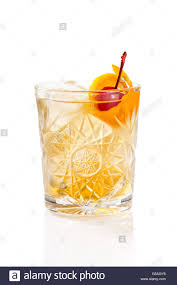 classic old fashioned cocktail classic old fashioned cocktail isolated on white background stock