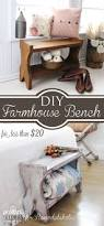 How To Build A Farmhouse Bench Remodelaholic Diy Rustic Farmhouse Bench Tutorial