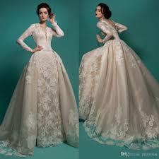 Long Sleeve Wedding Dresses Milla Nova 2016 Vintage Long Sleeves Wedding Dresses Ivory V Neck