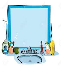 clean bathroom sink clipart