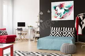 murals posters wall stickers canvas prints myloview com galloping horse canvas print