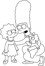 simpsons coloring pages bart and family coloring page pinterest