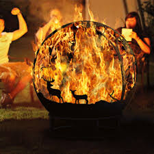 Sphere Fire Pit by Handmade Forest Deer Fire Pit Sphere Fireball огненный шар