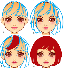 drawing of bob hair how to draw hair and clothes for a virtual dress up doll in