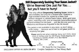 Seeking Ad Desperately Seeking 80 S Madonna Fashions Kitsch Slapped