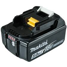 makita 18v 5 0ah lithium ion battery with gauge bunnings warehouse