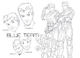 red blue blue team phill art deviantart