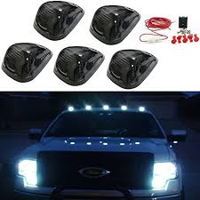ford f250 cab lights kit carrep 5x smoked cab roof top marker running ls clearance light