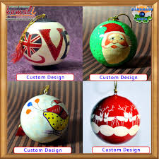 large floral design hand painted paper machce christmas