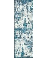 2 X 7 Runner Rug Incredible Deal On Unique Loom Sofia Collection Navy Blue 2 X 7