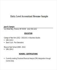 Finance Resume Samples Doc by 33 Accountant Resumes In Doc Free U0026 Premium Templates