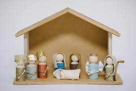 wooden nativity set how to make a wooden peg doll nativity set diy christmas decor