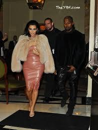 kanye west takes a latex drenched kim kardashian to madonna u0027s