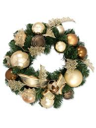 pre decorated chocolate copper u0026 champagne bauble u0026 pine wreath