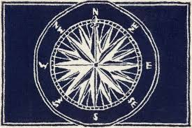 Round Nautical Rugs Blue And White Outdoor Rug