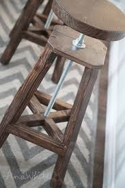 Adjustable Height Bar Stool with Ana White Industrial Adjustable Height Bolt Bar Stool Diy Projects