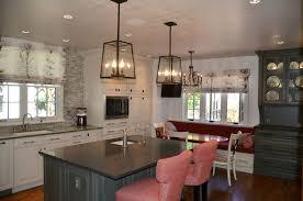 Indoor Lantern Pendant Light Traditional Kitchen With Breakfast Bar By Bkc Kitchen Bath