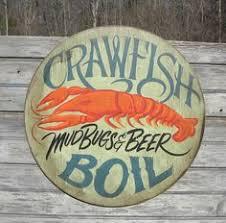 cajun decorations crawfish boil sign original wooden sign faux vintage decor