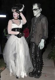 Frankenstein Halloween Costumes Kate Beckinsale Husband Disguised Frankenstein Bride