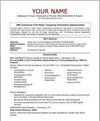 Sample Video Resume by Film Resume Template U2013 Template Design