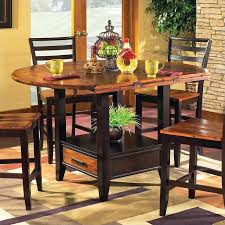 Counter Height Dining Room Furniture Steve Silver Abaco Drop Leaf Counter Height Dining Table In Acacia