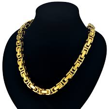 mens byzantine necklace gold images 22 quot 26 quot 28 quot men byzantine chain male 8mm gold color mens thick jpg
