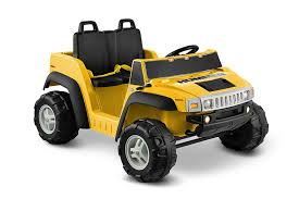 amazon com hummer h2 12v two seater yellow toys u0026 games