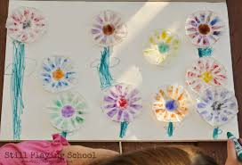 condiment cup flower craft still playing