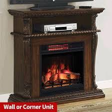 Electric Fireplace Tv Stand Amazon Com Corinth Electric Fireplace Tv Stand In Walnut With