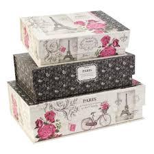 by tri coastal designs pretty storage boxes eiffel