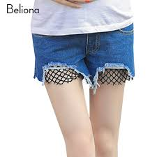maternity shorts 2017 summer denim maternity shorts fishnet pregnancy
