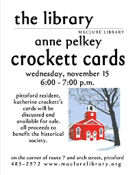 crockett card sale maclure library
