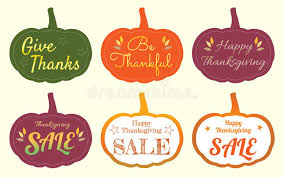 set of happy thanksgiving pumpkin tag label stock vector