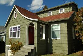 maple leaf warm green bungalow paint for house exterior