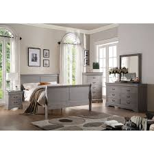 overstock bedroom sets 4 piece bedroom set in antique grey free shipping today