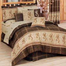 Plaid Bed Sets Browning Buckmark Camouflage Comforter Sets King Size Browning