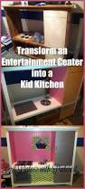 Diy Play Kitchen From Entertainment Center Best 20 Entertainment Center Kitchen Ideas On Pinterest Diy