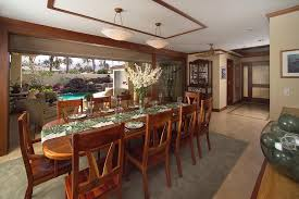 Bistro Table Set Dining Room Tropical With Chandeliers Wood Shade - Tropical dining room sets counter height