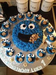 Cookie Monster Baby Shower Decorations Monster Cupcakes Monsters Monster Cupcakes And Birthdays