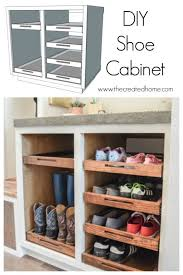 how to make storage cabinets shoe storage cabinet with trays the created home