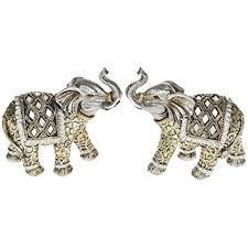 pair of small elephant ornaments co uk kitchen home