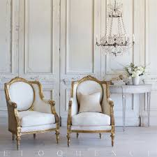 french country style pair of vintage bergere armchairs 1949