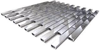 Aluminum Backsplash Kitchen Eden Mosaic Tile Aluminum Mosaic Tile In Silver U0026 Reviews Wayfair