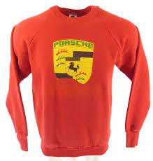 vintage orange porsche vintage 80s car racing 911 sweatshirt l 50 50 german coat of arms