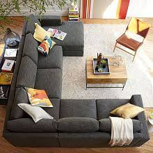 modern living room sofas henry set 1 corner right loveseat left loveseat linen weave