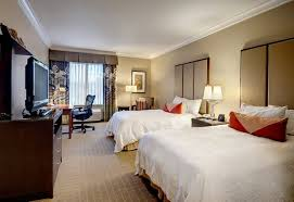Hotel Room Interior - luxury and comfortable queen room interior design of the hilton