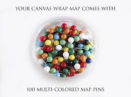 Colored World Map by Nautilus World Map Canvas Wrap Map Geojango Maps