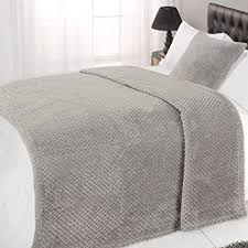 Dreamscene Luxury Waffle Soft Mink Warm Throw Over Sofa Bed - Luxury sofa beds uk