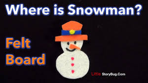 Where Is Winter Winter Felt Board Activity Where Is Snowman Littlestorybug