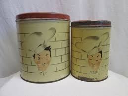 28 tin kitchen canisters tin vintage style rooster 4pc tin kitchen canisters kitchen canisters parmeco tin chef motif kitchen